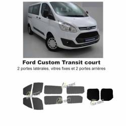 Transit Custom (2014-ACTUEL) Court. Vitres fixes et 2 portes arrières
