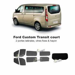 Transit Custom (2014-ACTUEL) Court. Vitres fixes et hayon