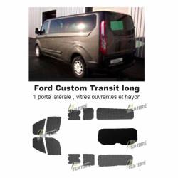 Transit Custom (2014-ACTUEL) Long. Vitres ouvrantes et hayon
