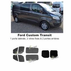 Transit Custom (2014-ACTUEL) Long. Vitres ouvrantes et 2 portes arrières