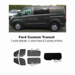 Transit Custom (2014-ACTUEL) 1 porte latérale, 2 vitres fixes & hayon