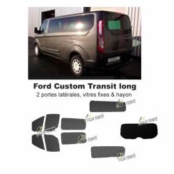 Transit Custom (2014-ACTUEL) Long. Vitres fixes et hayon
